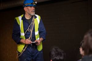 Lawrence O´Connor as Laurent, the tunnel engineer - The Painting - Invisible Cinema - Directed by Freya Berry