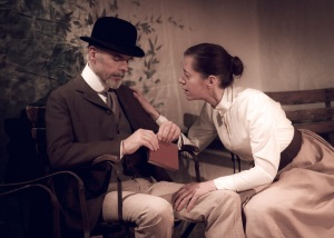Lawrence O'Connor and Anne Stafford as Dorn and Paulina - The Seagull - Front Foot Theatre - Photography Kim Hardy - 2013