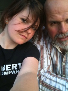Lawrence O´Connor and youngest daughter, Siân - 2012