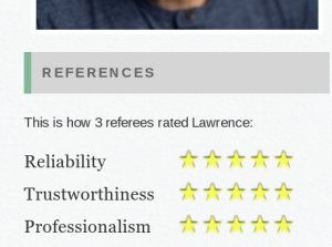Lawrence O´Connor - Five star reviews for teaching